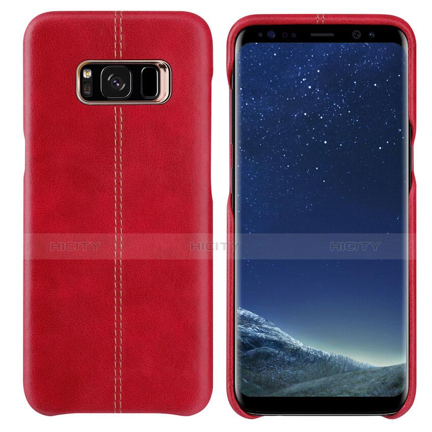 Handyhülle Hülle Luxus Leder Schutzhülle L01 für Samsung Galaxy S8 Rot Plus