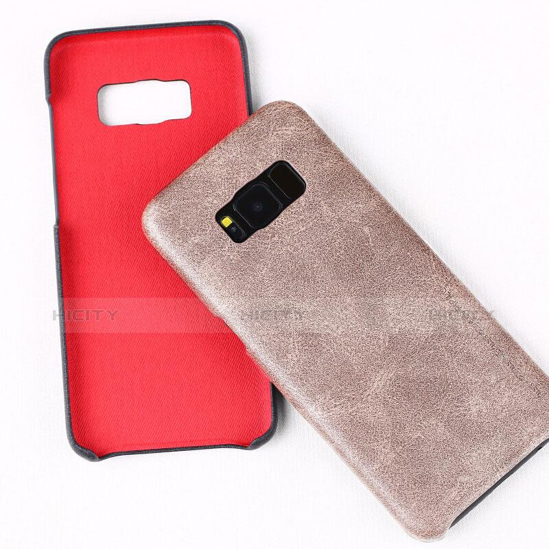 Handyhülle Hülle Luxus Leder Schutzhülle L02 für Samsung Galaxy S8 Plus Rosegold