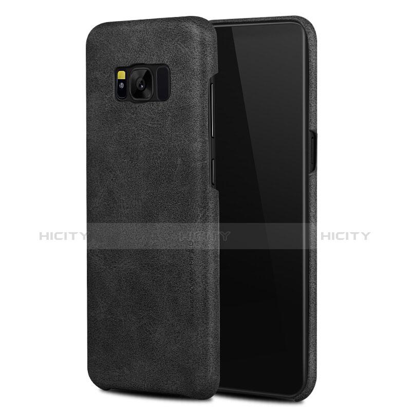 Handyhülle Hülle Luxus Leder Schutzhülle L02 für Samsung Galaxy S8 Plus Schwarz Plus
