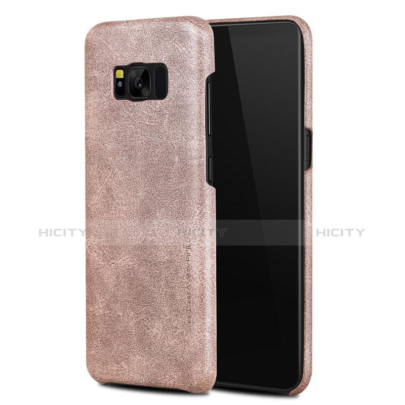 Handyhülle Hülle Luxus Leder Schutzhülle L02 für Samsung Galaxy S8 Rosegold Plus