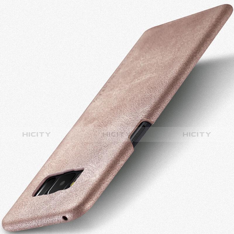 Handyhülle Hülle Luxus Leder Schutzhülle L02 für Samsung Galaxy S8 Rosegold groß
