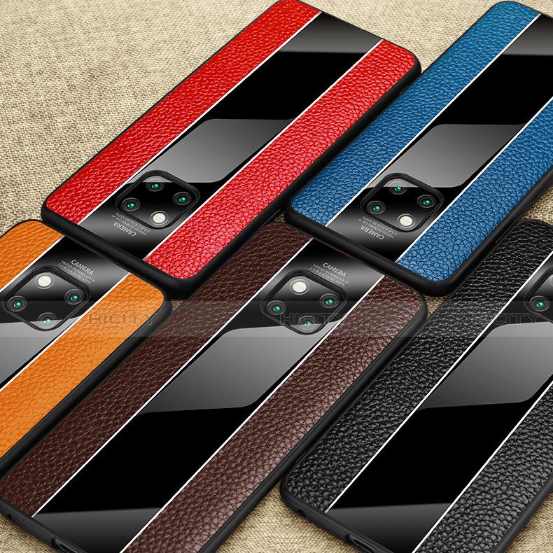 Handyhülle Hülle Luxus Leder Schutzhülle S01 für Huawei Mate 20 Pro groß