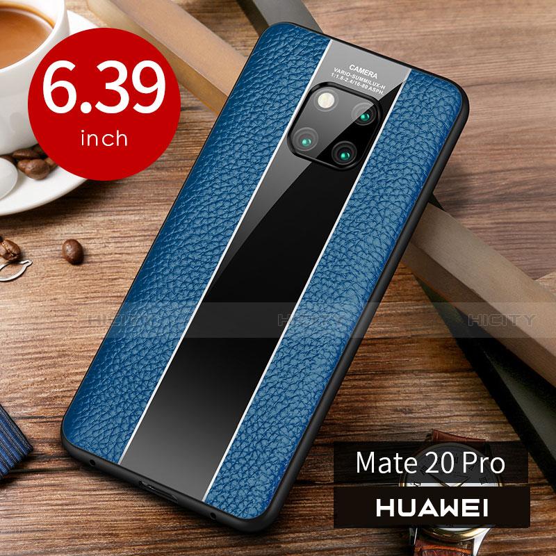 Handyhülle Hülle Luxus Leder Schutzhülle S01 für Huawei Mate 20 Pro Blau Plus