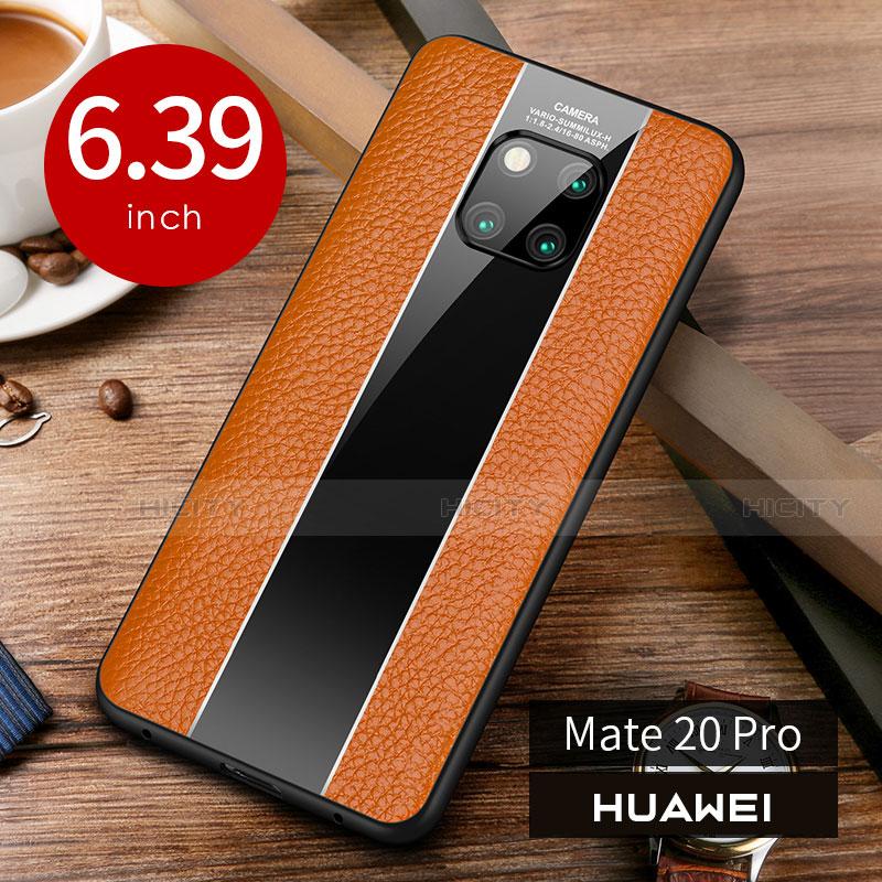 Handyhülle Hülle Luxus Leder Schutzhülle S01 für Huawei Mate 20 Pro Orange Plus