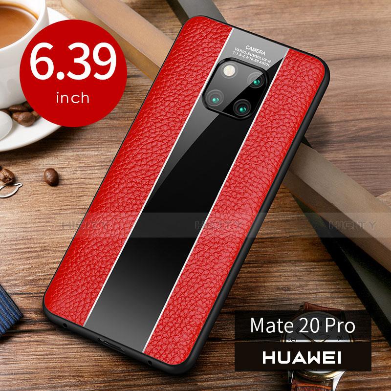 Handyhülle Hülle Luxus Leder Schutzhülle S01 für Huawei Mate 20 Pro Rot