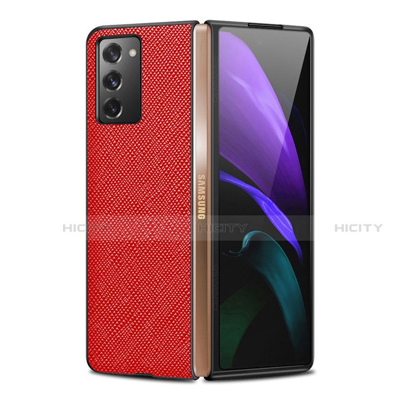 Handyhülle Hülle Luxus Leder Schutzhülle S01 für Samsung Galaxy Z Fold2 5G Rot Plus
