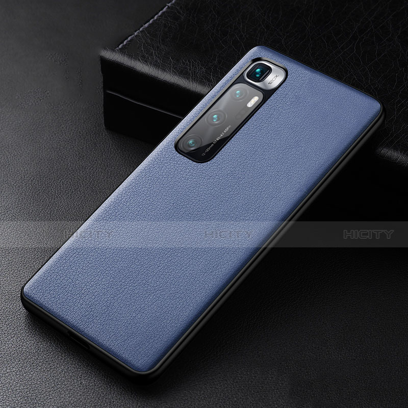 Handyhülle Hülle Luxus Leder Schutzhülle S01 für Xiaomi Mi 10 Ultra Blau Plus