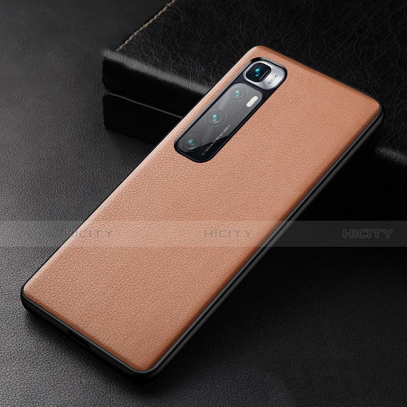 Handyhülle Hülle Luxus Leder Schutzhülle S01 für Xiaomi Mi 10 Ultra Braun Plus