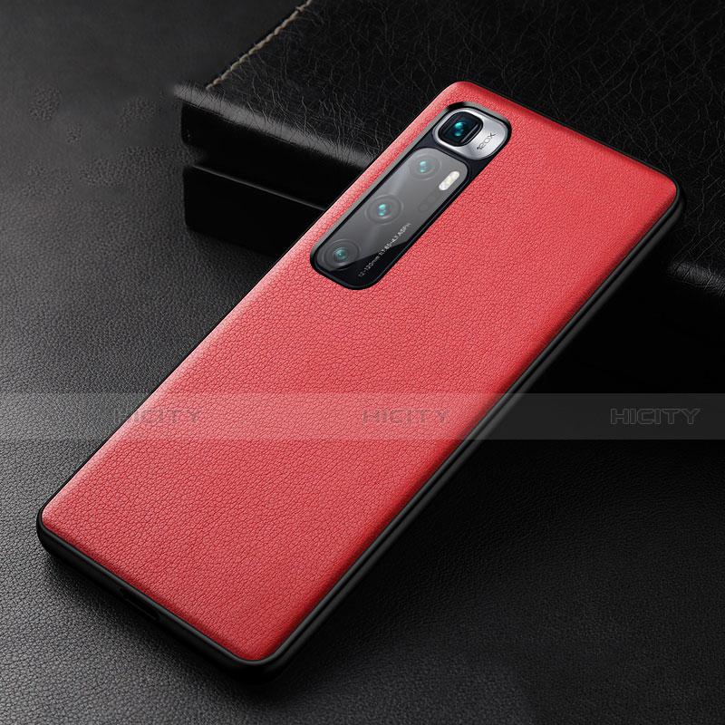 Handyhülle Hülle Luxus Leder Schutzhülle S01 für Xiaomi Mi 10 Ultra Rot Plus