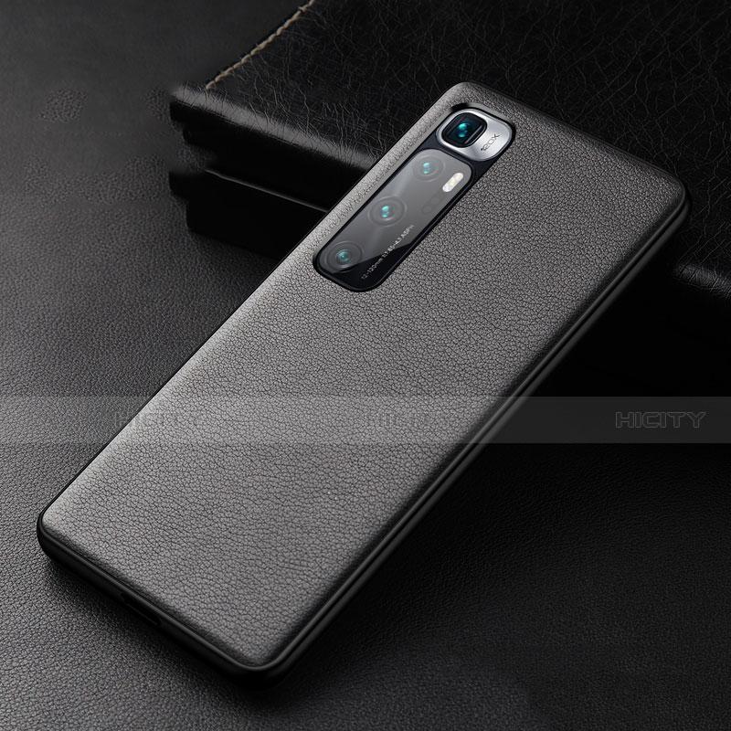 Handyhülle Hülle Luxus Leder Schutzhülle S01 für Xiaomi Mi 10 Ultra Schwarz Plus