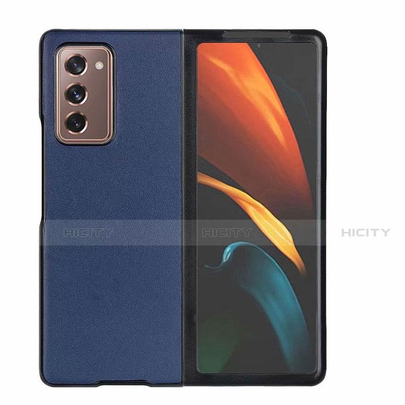 Handyhülle Hülle Luxus Leder Schutzhülle S03 für Samsung Galaxy Z Fold2 5G Blau Plus