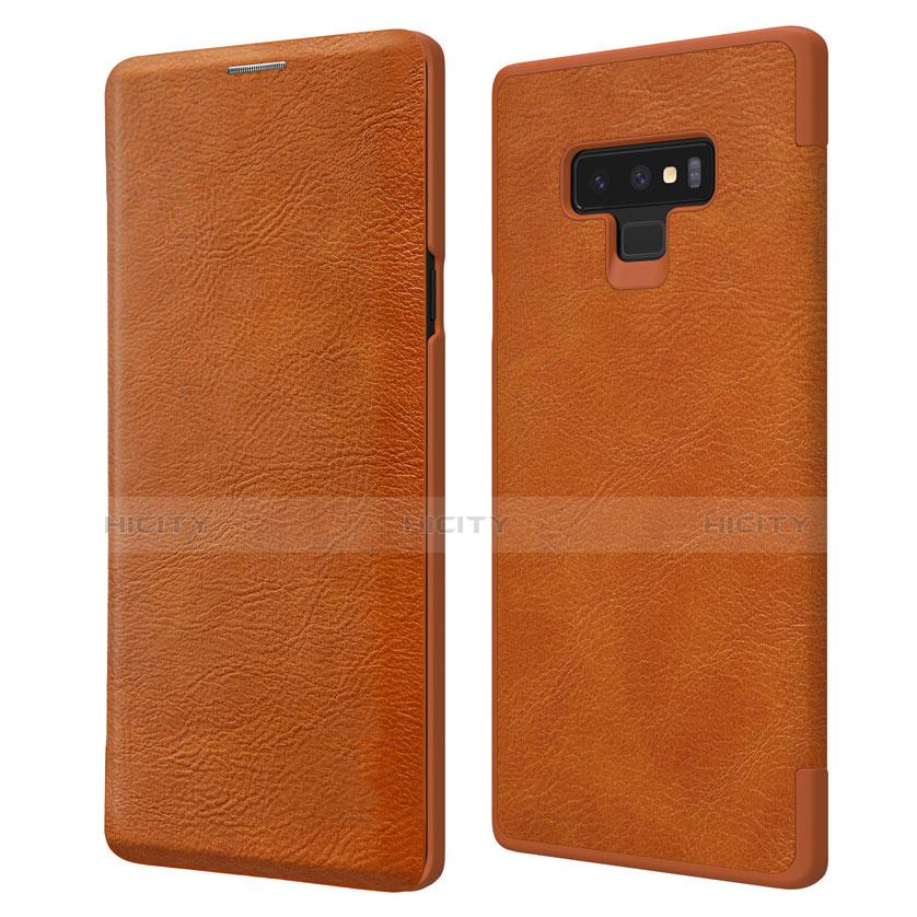 Handyhülle Hülle Stand Tasche Leder für Samsung Galaxy Note 9 Braun Plus