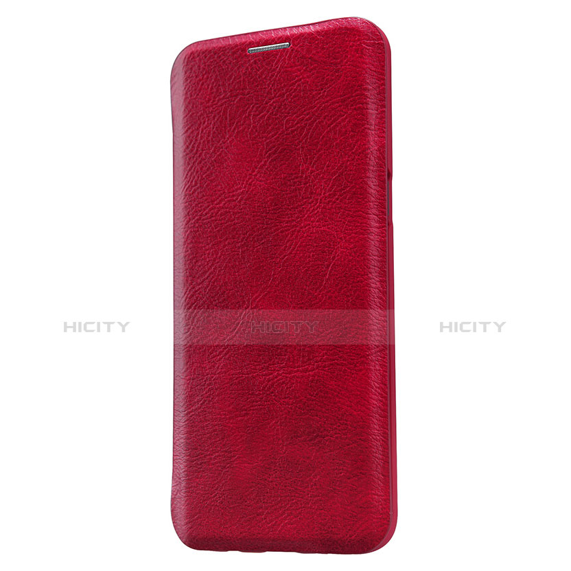 Handyhülle Hülle Stand Tasche Leder L01 für Samsung Galaxy S8 Plus Rot