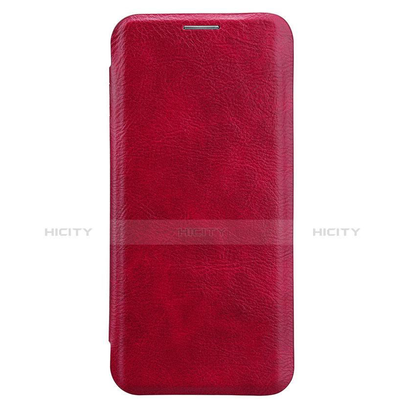 Handyhülle Hülle Stand Tasche Leder L01 für Samsung Galaxy S8 Rot groß