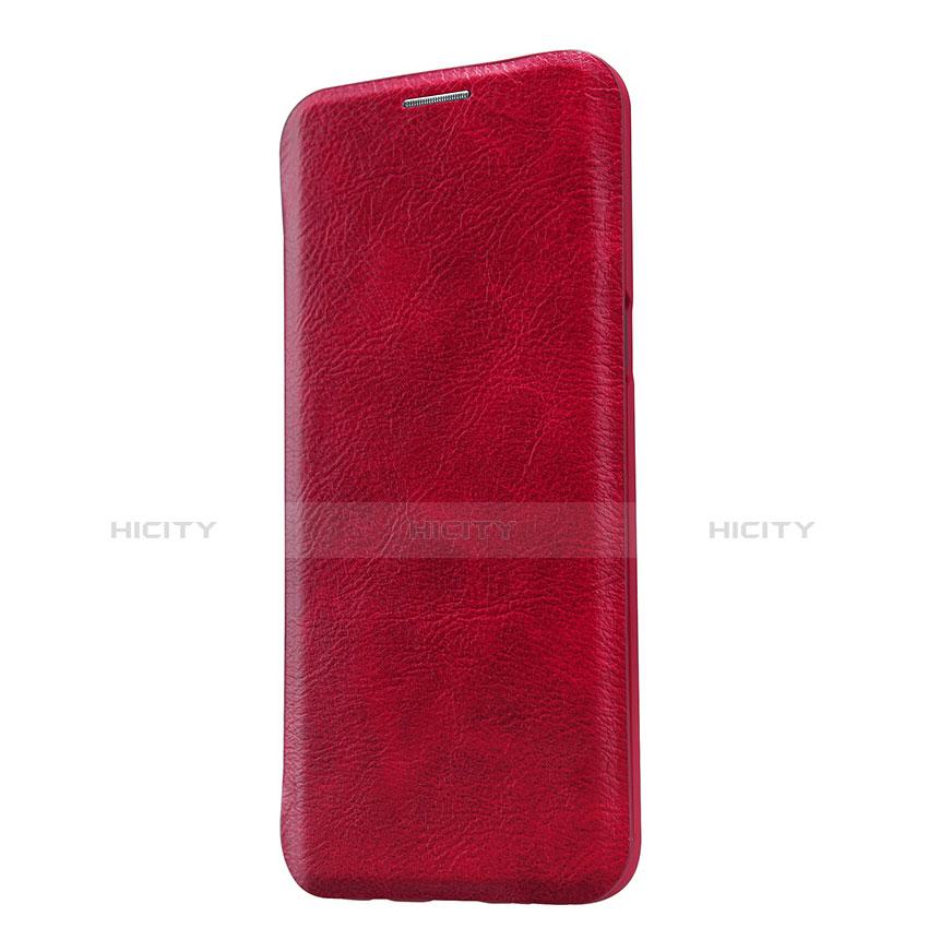 Handyhülle Hülle Stand Tasche Leder L01 für Samsung Galaxy S9 Rot groß