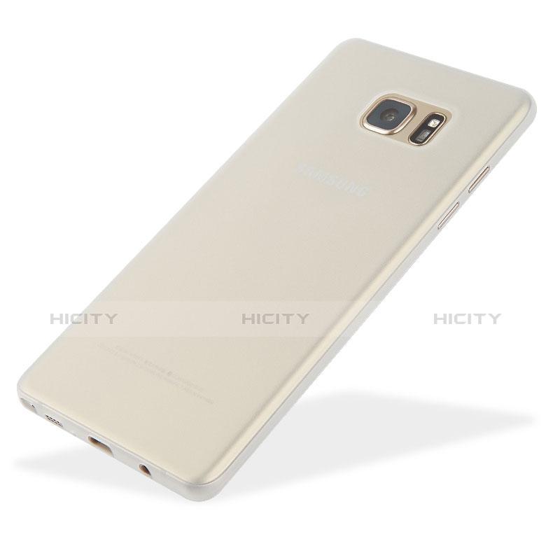 Handyhülle Hülle Ultra Dünn Schutzhülle Durchsichtig Transparent Matt T01 für Samsung Galaxy Note 7 Weiß Plus
