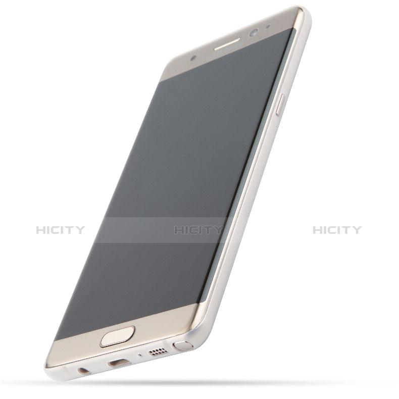 Handyhülle Hülle Ultra Dünn Schutzhülle Durchsichtig Transparent Matt T01 für Samsung Galaxy Note 7 Weiß groß
