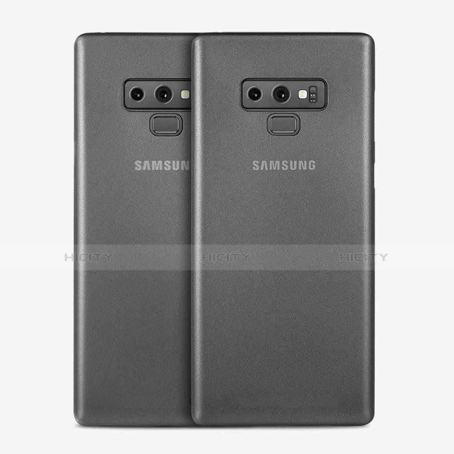 Handyhülle Hülle Ultra Dünn Schutzhülle Durchsichtig Transparent Matt T01 für Samsung Galaxy Note 9 Grau Plus