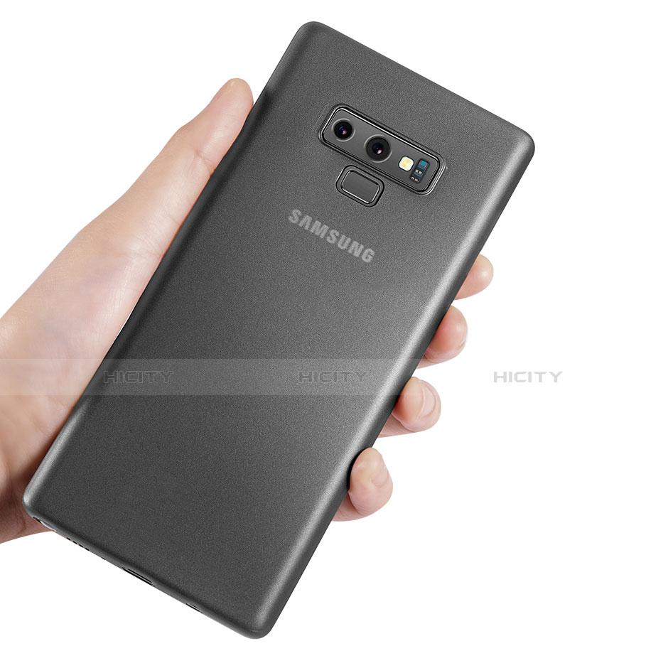 Handyhülle Hülle Ultra Dünn Schutzhülle Durchsichtig Transparent Matt T01 für Samsung Galaxy Note 9 Grau groß