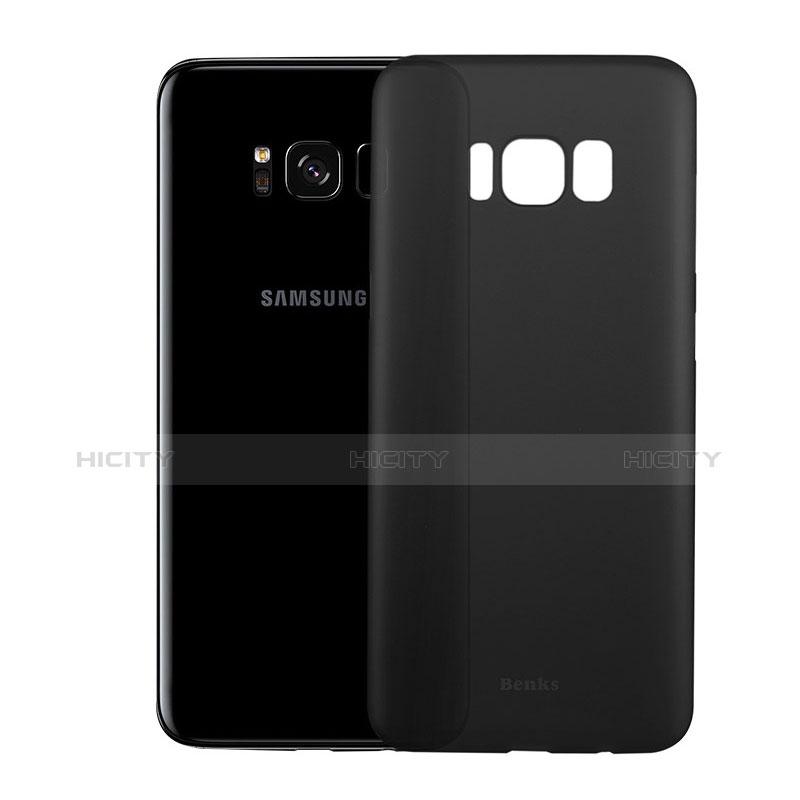 Handyhülle Hülle Ultra Dünn Schutzhülle Durchsichtig Transparent Matt T01 für Samsung Galaxy S8 Plus Schwarz Plus