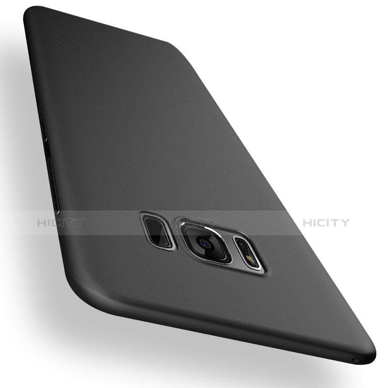 Handyhülle Hülle Ultra Dünn Schutzhülle Durchsichtig Transparent Matt T01 für Samsung Galaxy S8 Plus Schwarz groß