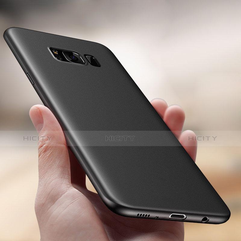 Handyhülle Hülle Ultra Dünn Schutzhülle Durchsichtig Transparent Matt T01 für Samsung Galaxy S8 Schwarz