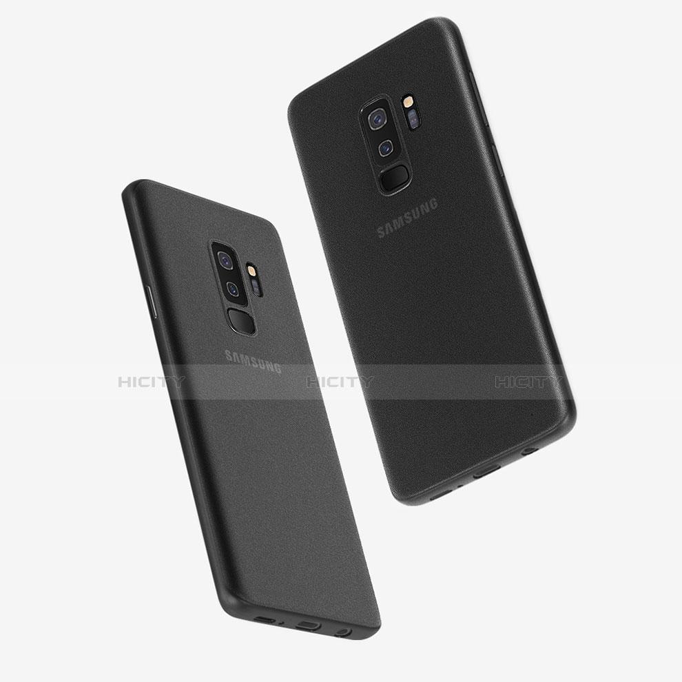 Handyhülle Hülle Ultra Dünn Schutzhülle Durchsichtig Transparent Matt T01 für Samsung Galaxy S9 Plus Schwarz Plus
