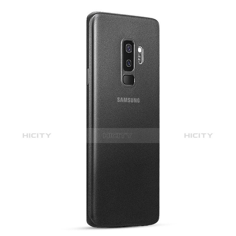 Handyhülle Hülle Ultra Dünn Schutzhülle Durchsichtig Transparent Matt T01 für Samsung Galaxy S9 Plus Schwarz groß