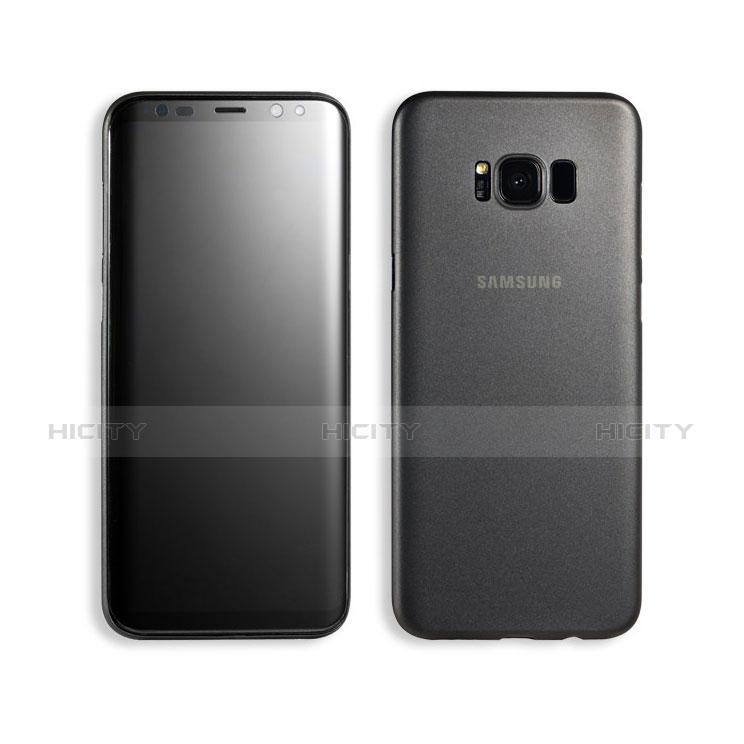 Handyhülle Hülle Ultra Dünn Schutzhülle Durchsichtig Transparent Matt T02 für Samsung Galaxy S8 Plus Schwarz