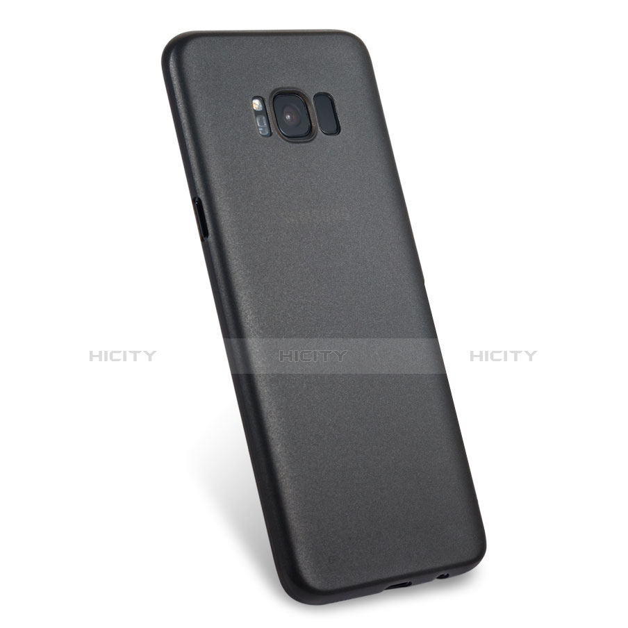 Handyhülle Hülle Ultra Dünn Schutzhülle Durchsichtig Transparent Matt T02 für Samsung Galaxy S8 Schwarz groß
