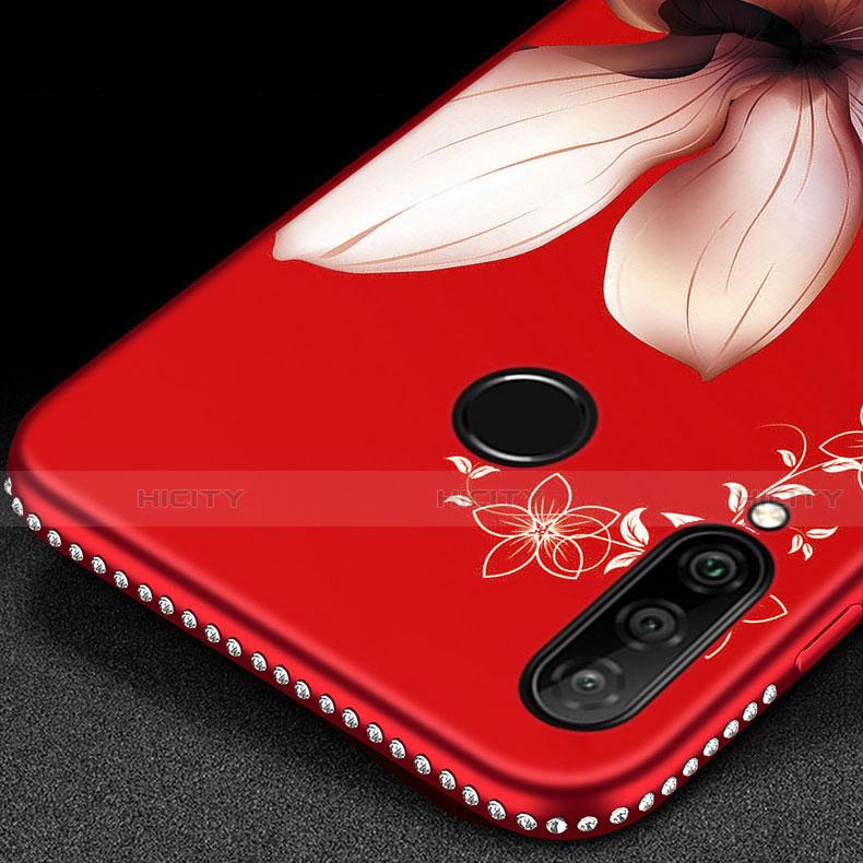 Handyhülle Silikon Hülle Gummi Schutzhülle Blumen für Huawei Honor 20 Lite groß