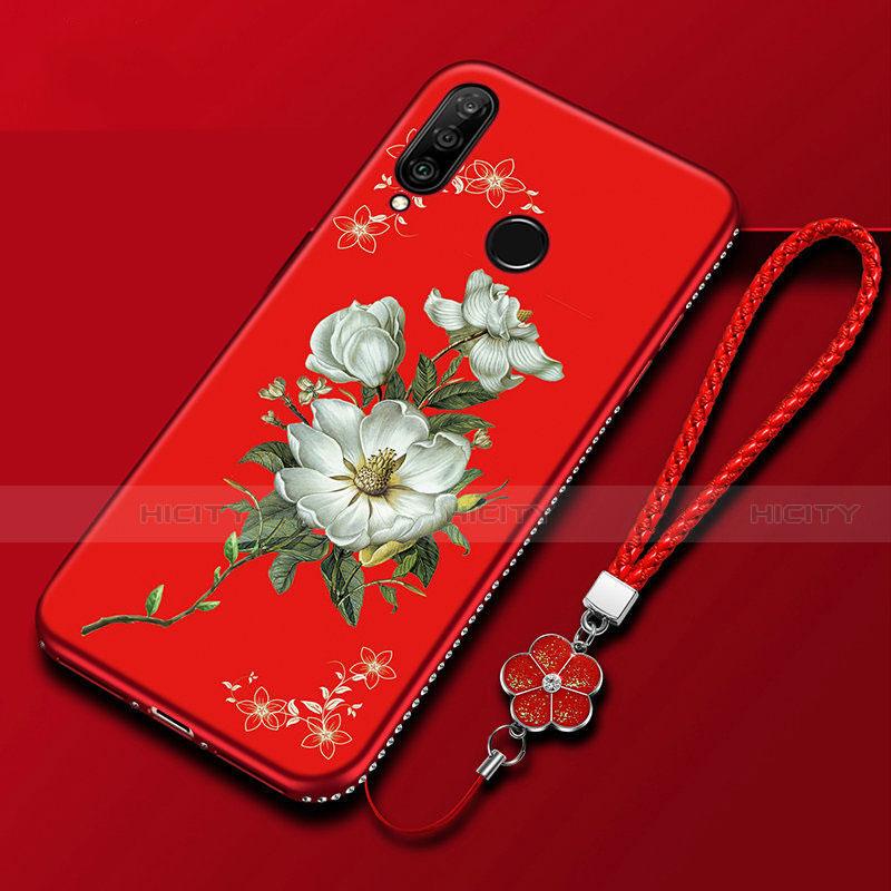 Handyhülle Silikon Hülle Gummi Schutzhülle Blumen für Huawei Honor 20 Lite Bunt Plus