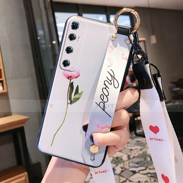 Handyhülle Silikon Hülle Gummi Schutzhülle Flexible Blumen für Xiaomi Mi 10 Ultra groß