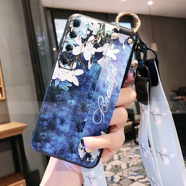 Handyhülle Silikon Hülle Gummi Schutzhülle Flexible Blumen für Xiaomi Mi 10 Ultra Königs Blau Plus