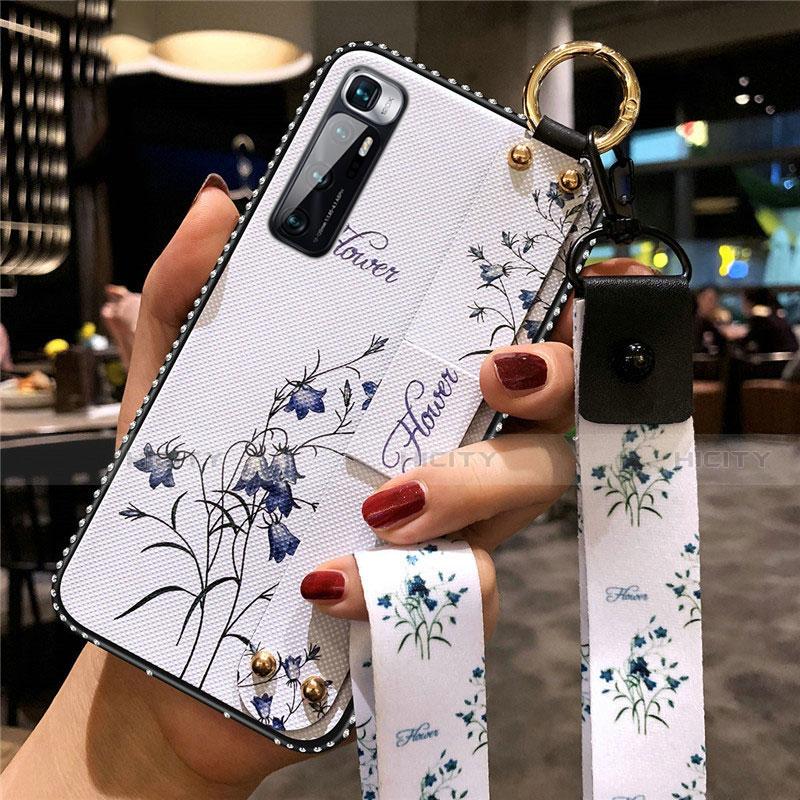 Handyhülle Silikon Hülle Gummi Schutzhülle Flexible Blumen S01 für Xiaomi Mi 10 Ultra Weiß Plus