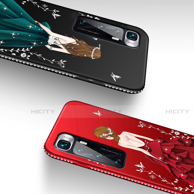 Handyhülle Silikon Hülle Gummi Schutzhülle Flexible Motiv Kleid Mädchen für Xiaomi Mi 10 Ultra groß