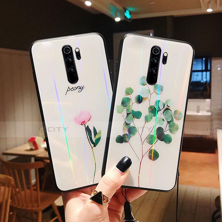 Handyhülle Silikon Hülle Rahmen Schutzhülle Spiegel Blumen für Xiaomi Redmi Note 8 Pro groß
