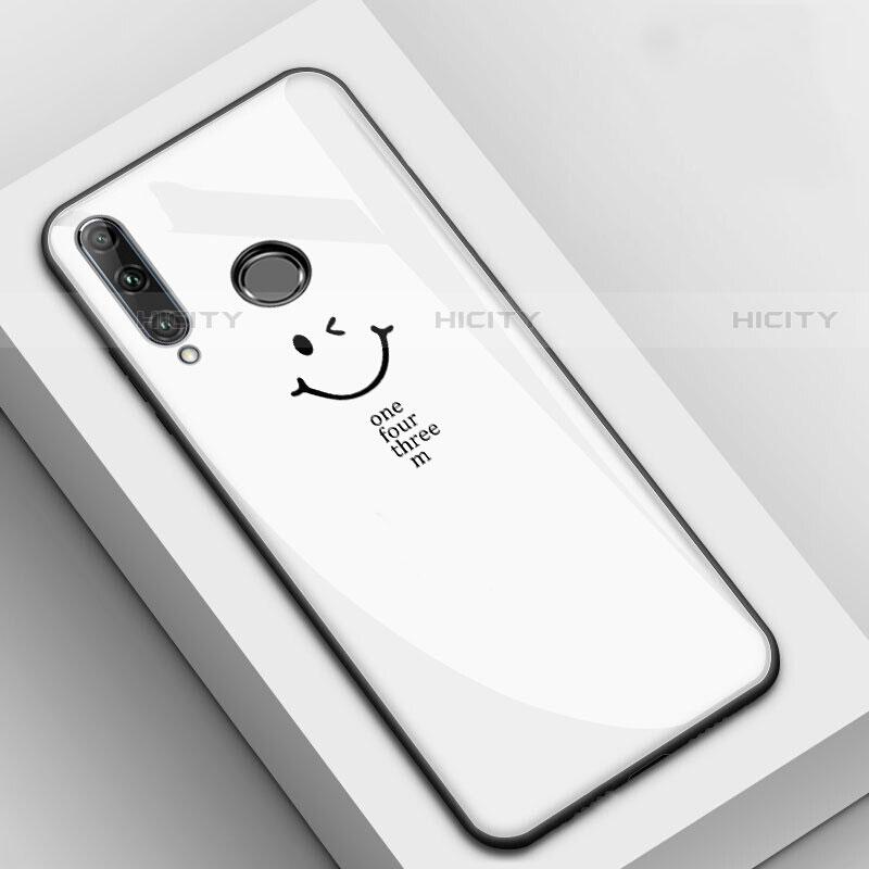 Handyhülle Silikon Hülle Rahmen Schutzhülle Spiegel Modisch Muster für Huawei Honor 20 Lite Weiß