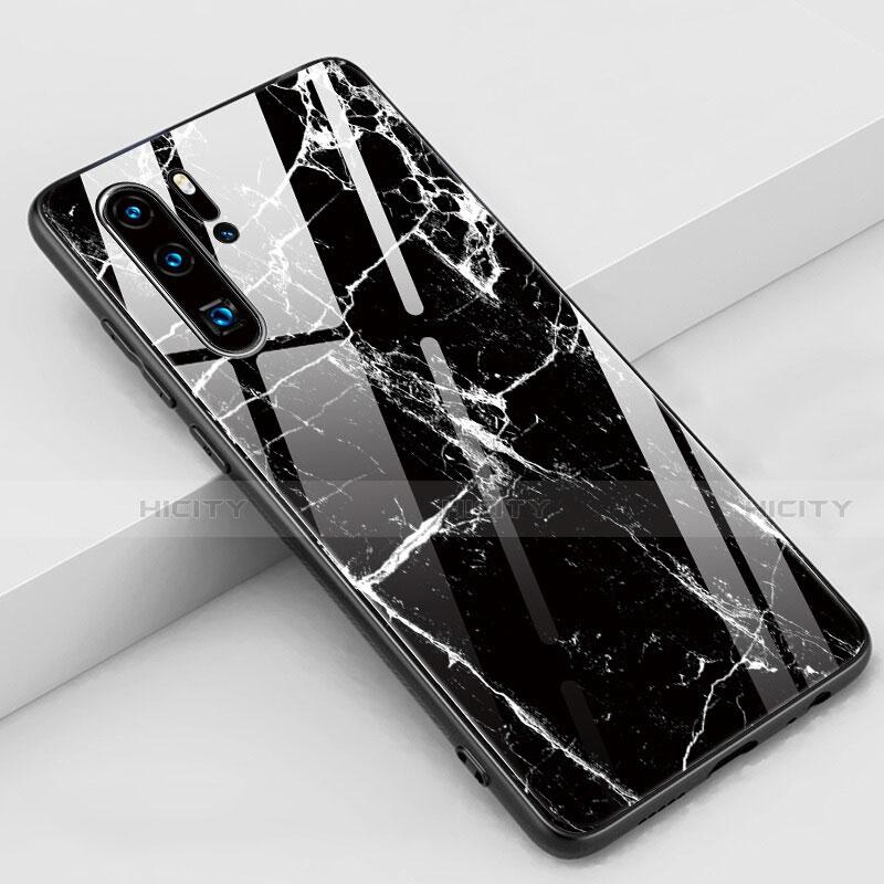 Handyhülle Silikon Hülle Rahmen Schutzhülle Spiegel Modisch Muster K03 für Huawei P30 Pro Schwarz Plus