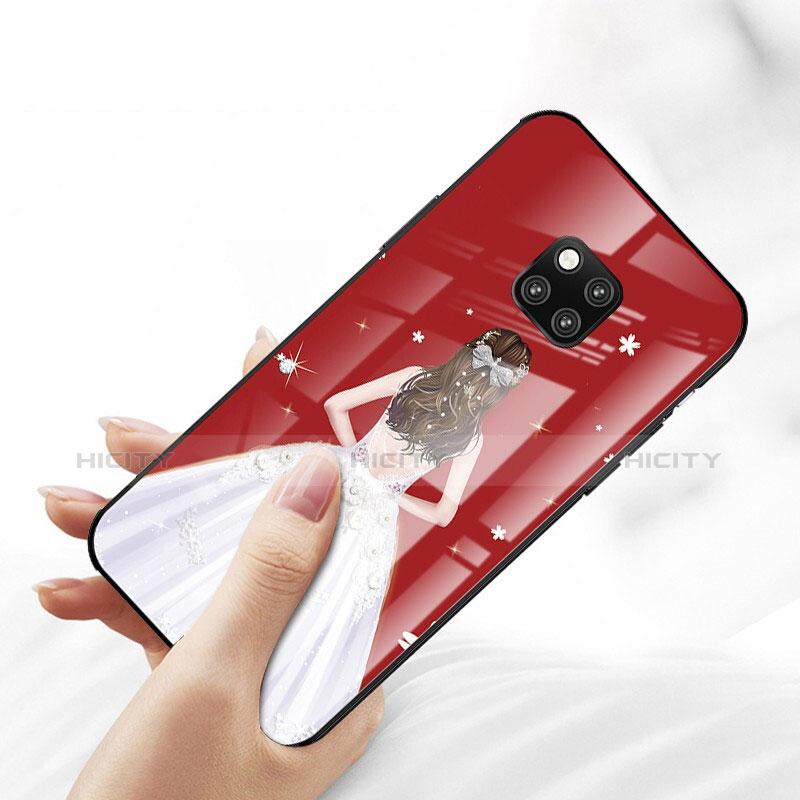 Handyhülle Silikon Hülle Rahmen Schutzhülle Spiegel Motiv Kleid Mädchen für Huawei Mate 20 Pro groß