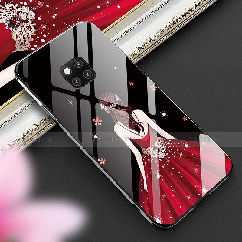 Handyhülle Silikon Hülle Rahmen Schutzhülle Spiegel Motiv Kleid Mädchen für Huawei Mate 20 Pro Plusfarbig Plus