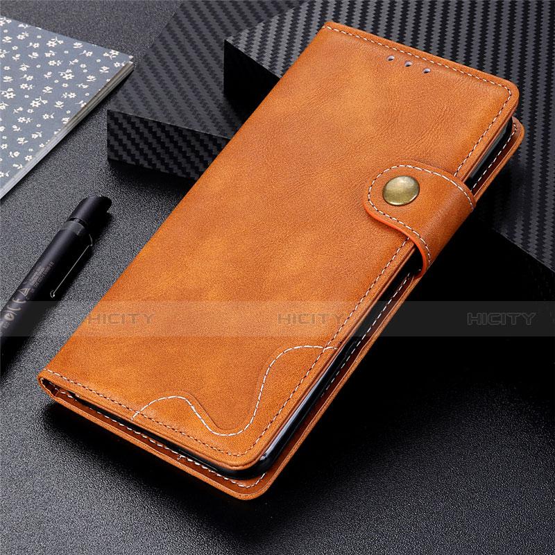 Handytasche Stand Schutzhülle Flip Leder Hülle für Motorola Moto G9 Plus Orange Plus