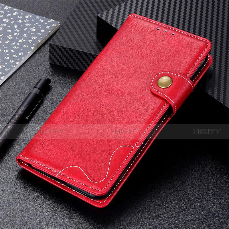 Handytasche Stand Schutzhülle Flip Leder Hülle für Motorola Moto G9 Plus Rot Plus