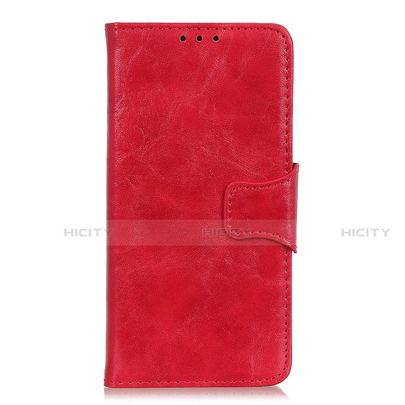 Handytasche Stand Schutzhülle Flip Leder Hülle für Oppo Reno3 A Rot Plus