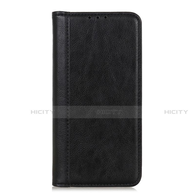 Handytasche Stand Schutzhülle Flip Leder Hülle L01 für Motorola Moto G9 Plus Schwarz Plus