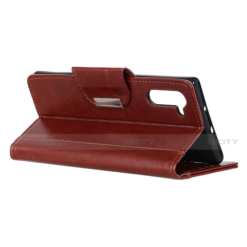 Handytasche Stand Schutzhülle Flip Leder Hülle L02 für Oppo Reno3 A groß