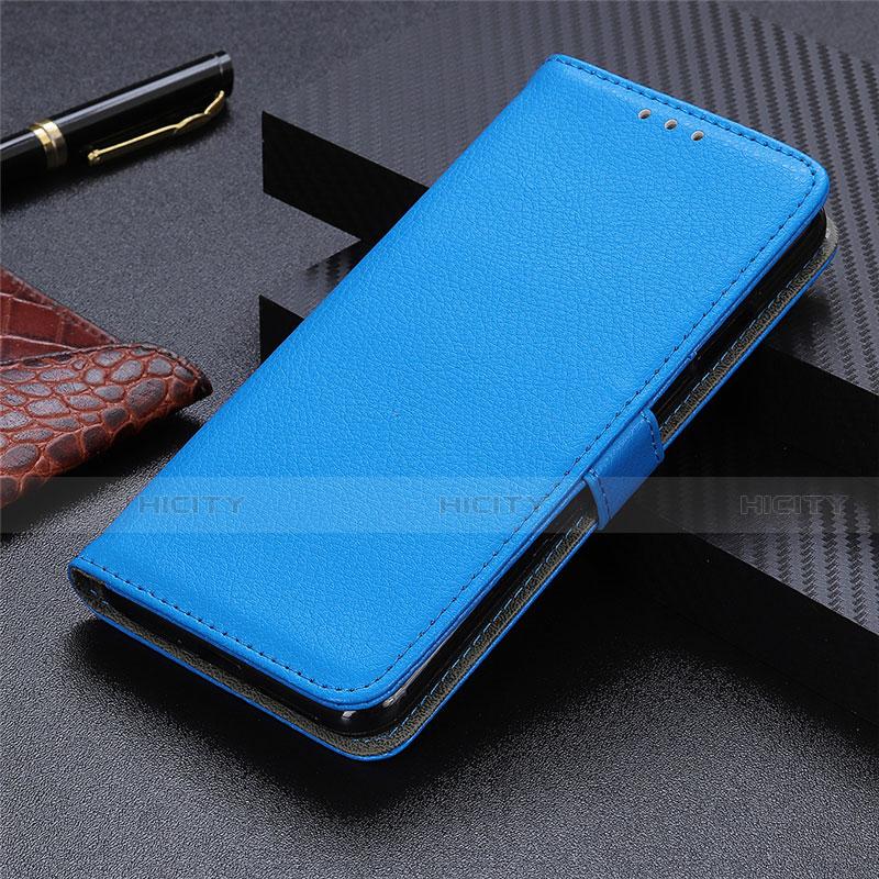 Handytasche Stand Schutzhülle Flip Leder Hülle L03 für Motorola Moto G9 Plus Hellblau Plus
