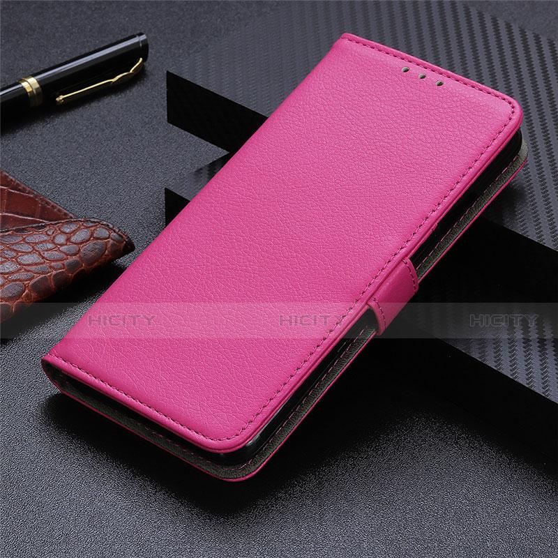 Handytasche Stand Schutzhülle Flip Leder Hülle L03 für Motorola Moto G9 Plus Pink Plus