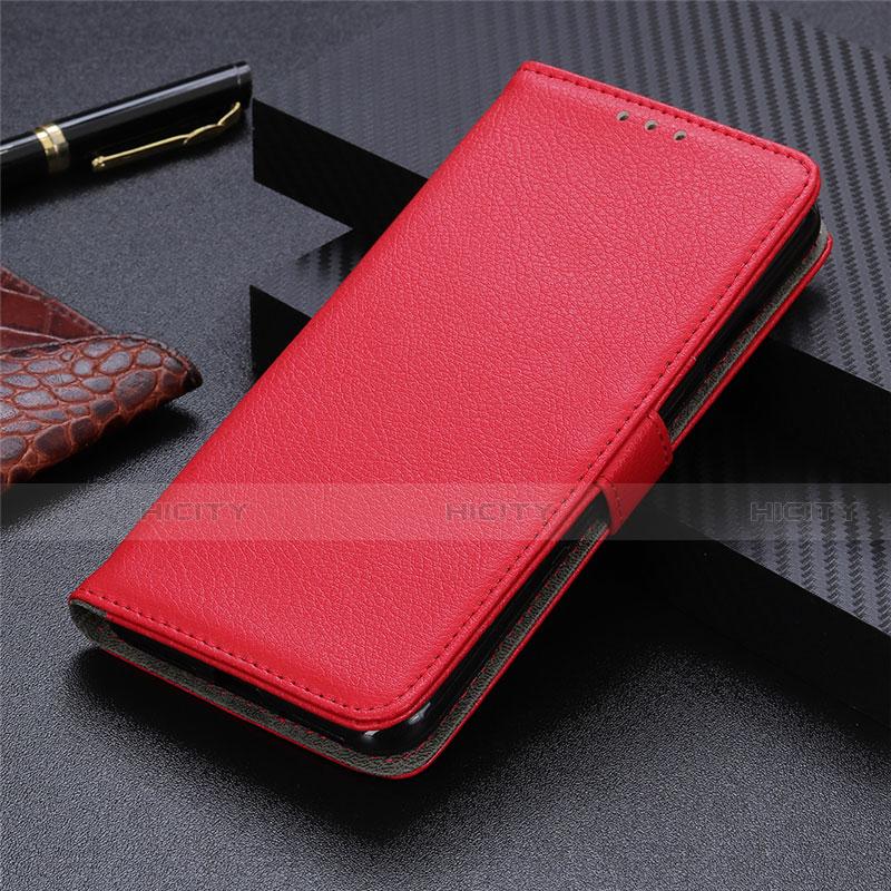 Handytasche Stand Schutzhülle Flip Leder Hülle L03 für Motorola Moto G9 Plus Rot Plus