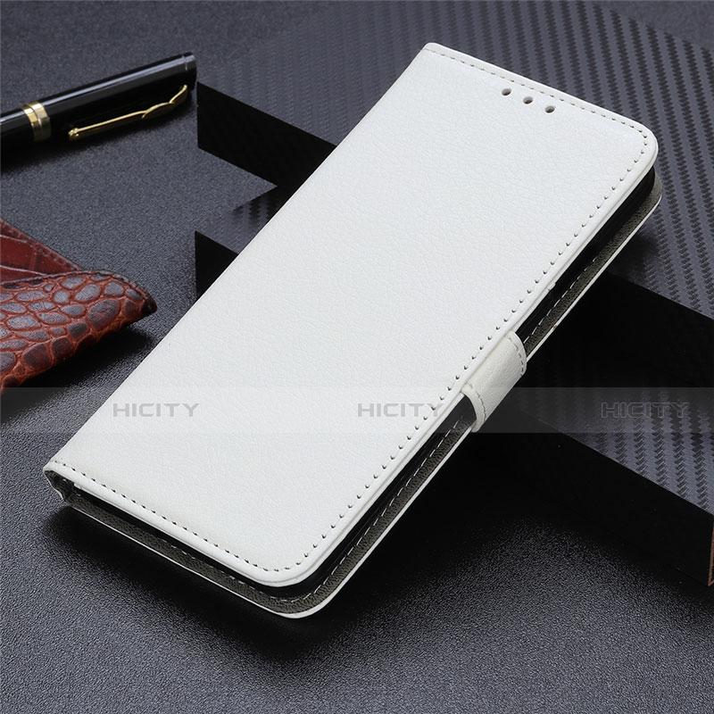 Handytasche Stand Schutzhülle Flip Leder Hülle L03 für Motorola Moto G9 Plus Weiß Plus